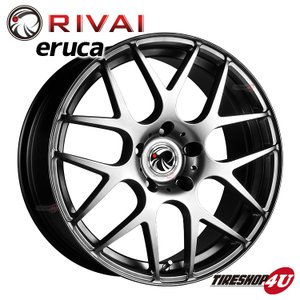 RIVAI ERUCA 17×7.5 5/120 +21 HPB ハイパーブラック BMW 5シリーズ E60 E61 など|tireshop4u
