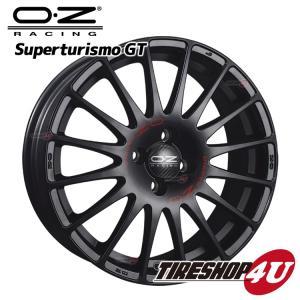 17インチ OZ SUPERTURISMO GT(スーパーツーリズモGT)17×7.5J 5/112 +50 MB(マットブラック) VW AUDI メルセデスベンツ tireshop4u
