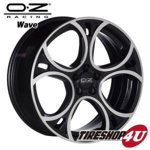 17インチ OZ WAVE(ウェーブ)17×7.5J 5/112 +50 MBP(マットブラックポリッシュ) VW AUDI tireshop4u