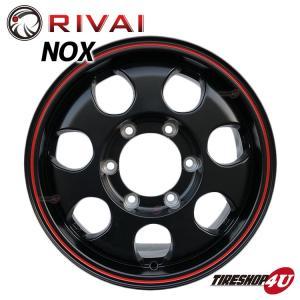 RIVAI NOX 15×6.0J 6/139.7 +32 マットブラック/レッドライン リヴァイ ノックス|tireshop4u