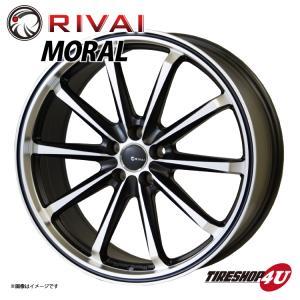 RIVAI Moral(リヴァイ モラル)19インチ  19×8.0J 5/100+45 MBP(マットブラックポリッシュ) プリウス 86 BRZ|tireshop4u