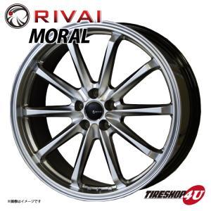 RIVAI Moral(リヴァイ モラル)19インチ  19×8.0J 5/100+45 HB(ハイバーブラック) プリウス 86 BRZ|tireshop4u