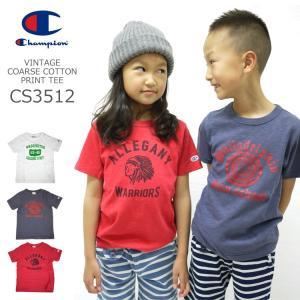 キッズ Tシャツ Champion チャンピオン CS3512 プリント 半袖 女の子 男の子 夏 普段着 薄手 こども 子供 かわいい|tis