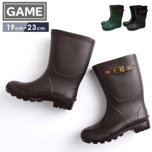 キッズ レインブーツ GAME ゲーム 638 ベルト付き 長靴 台風 雪 防水 雨具 通園 通学 小学生 子ども こども 女の子 男の子 流行|tis