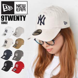 キャップ newera ニューエラ 9TWENTY NY ロゴ ビッグロゴ ニューヨークヤンキース 帽子 ローキャップ コットン メンズ レディース|tis