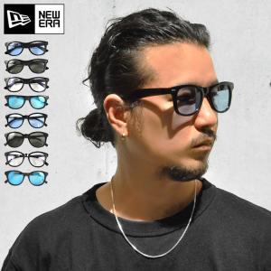 サングラス メンズ newera ニューエラ ミラーサングラス カラーサングラス おしゃれ クリアレング 伊達メガネ 眼鏡 UVカット|tis