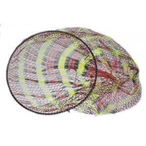 硬形態チタン ワンピース 玉枠 直径100cm玉枠+PE20号 手編みカラフル柄 タモ網 (6番柄セット)|titanium