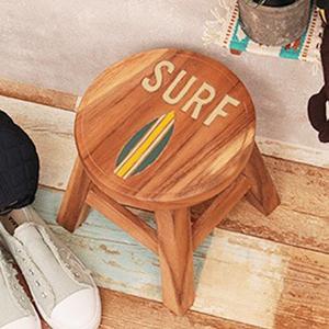 椅子 スツール おしゃれ 木製 北欧 アンティーク 小さい 子供 インテリア ラウンドスツール サーフ 10718860036