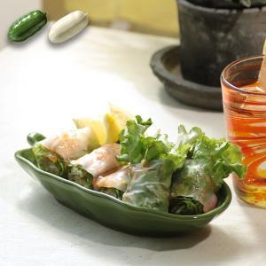 【オンライン店限定】  ◆商品について◆  バナナの葉をモチーフにした陶器のお皿。 ぐっとアジアンテ...