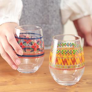 ◆商品について  丸っこいシルエットのプリントグラスです♪ カラーバリエーションは4色、 レトロかわ...