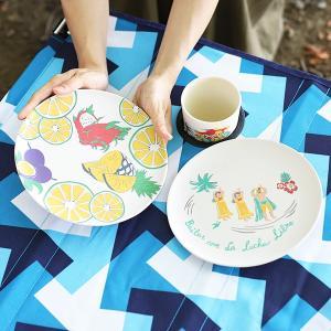◆商品について◆  ポップなデザインがかわいい、バンブー樹脂で作った軽くて割れにくいプレート。 さら...