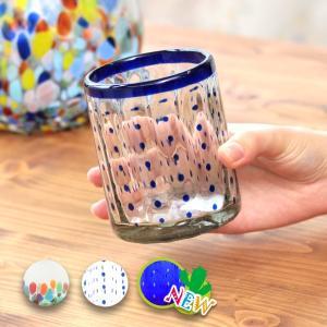 ◆商品について◆  メキシコの伝統的な手法で制作されたガラスグラス。 再生ガラスを使用し、薄緑がかっ...