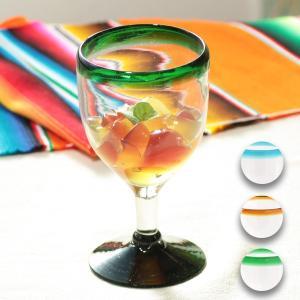 ◆商品について◆  カラフルで爽やかなゴブレットグラス。 ブラウン、グリーン、ブルーの3色をご用意い...