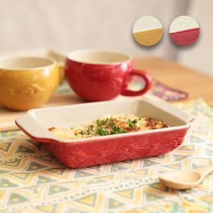 ◆商品について◆  ナバホ柄がぷっくり可愛いグラタン皿 グラタンやラザニアにちょうどいいサイズ感です...