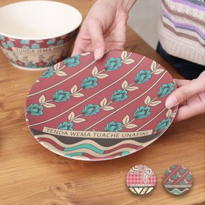 ◆商品について◆  シックなカラーリングが大人も使いやすい、バンブー樹脂で作った軽くて割れにくいプレ...