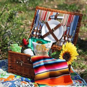 ◆商品について◆  ピクニックに行きたくなる2人分のカトラリーがセットになったランチバスケット。 お...