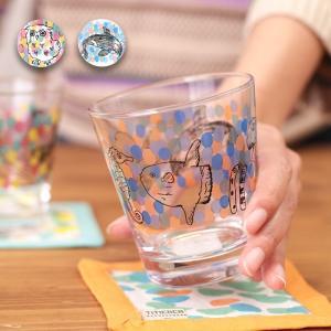 ◆商品について◆  アニマル柄がかわいらしいグラス。 カラフルなドットが爽やかさを演出してくれます♪...