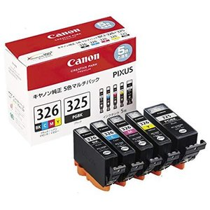 Canon インクタンクBCI-326 (BK/C/M/Y) + BCI-325 マルチパック BCI-326+325/5MP tiver