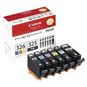 Canon インクタンクBCI-326 (BK/C/M/Y/GY) + BCI-325 マルチパック BCI-326+325/6MP tiver