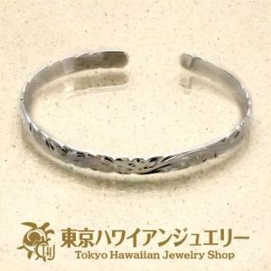 プルメリアウェーブシルバー925カットアウトエッジバングル6mm /東京ハワイアンジュエリー|tk-hawaiianjewelry