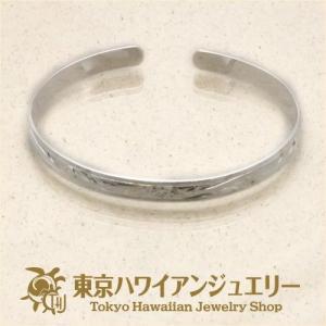 スクロール柄スムースエッジシルバー925バングル6mm /東京ハワイアンジュエリー|tk-hawaiianjewelry