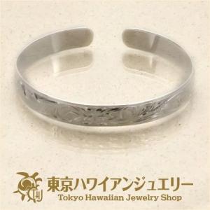 スクロール柄スムースエッジシルバー925バングル10mm /東京ハワイアンジュエリー|tk-hawaiianjewelry
