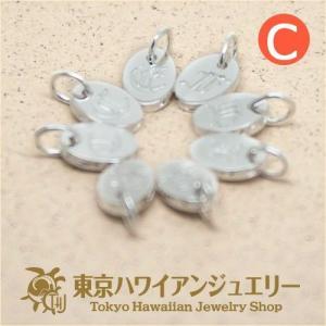 重ねづけにオススメハワイアンオールドイングリッシュのCのイニシャルチャーム/東京ハワイアンジュエリー|tk-hawaiianjewelry