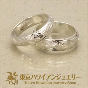 ハワイアンジュエリー ペアリング シルバーリング  Silver925 5mm&6mm幅 プルメリア&ウエーブHeart ラウレアオリジナルリング 送料無料/東京ハワイアン|tk-hawaiianjewelry|03