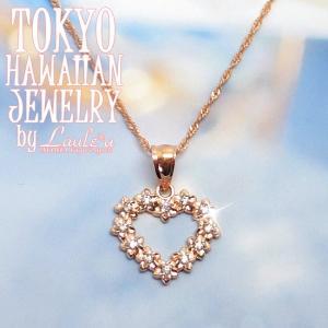 満足度200%!!キラキラジルコニア★ゴールドハートペンダントジュエリー|tk-hawaiianjewelry