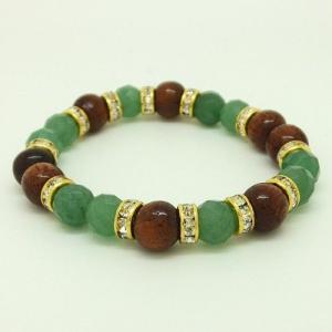 ハワイアンジュエリー ブレスレットパワーストーン天然石アベンチュリン&コアウッドブレスレットストー|tk-hawaiianjewelry