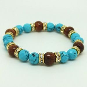 ハワイアンジュエリー ブレスレットパワーストーン天然石ターコイズ&コアウッドブレスレットストーン|tk-hawaiianjewelry