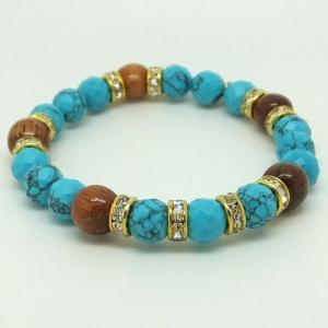 ハワイアンジュエリー ブレスレットパワーストーン天然石ターコイズ&コアウッドブレスレットストーンブ|tk-hawaiianjewelry
