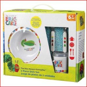 絵本で人気の「はらぺこあおむし」のかわいいイラストとドット柄が描かれた子供用食器セット。 食器は軽く...