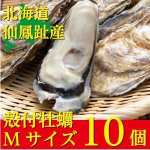 北海道仙鳳趾(せんぽうし)殻付牡蠣 Mサイズ(150g〜199g) 10個入り|tkhs946