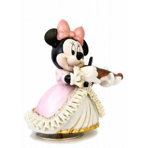 ミニー バイオリン弾き オルゴール カラー DY-2362C  【 陶器 人形 置物】 /テーケー名古屋人形製陶株式会社|tklace