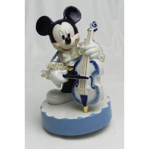 ミッキー コントラバス オルゴール ブルー DY-2375B/テーケー名古屋人形製陶株式会社 tklace