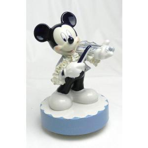 ミッキー バイオリン オルゴール ブルー DY-2376B/テーケー名古屋人形製陶株式会社 tklace