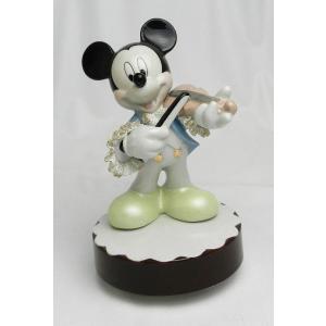 ミッキー バイオリン オルゴール カラー DY-2376C/テーケー名古屋人形製陶株式会社 tklace