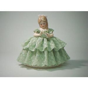レースドール アリス KM-2G 【 陶器 人形 置物】 /テーケー名古屋人形製陶株式会社|tklace