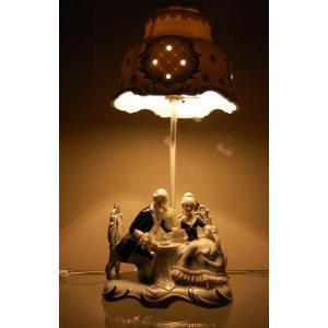ランプスタンド ティタイム TKN-2023 【 陶器 人形 置物】 /テーケー名古屋人形製陶株式会社|tklace