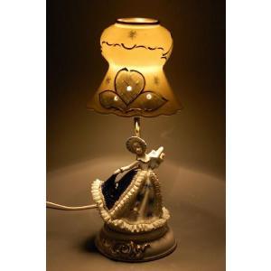 ランプスタンド 花持少女 TKN-2053DR  【 陶器 人形 置物】 /テーケー名古屋人形製陶株式会社|tklace