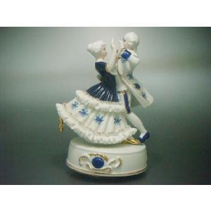 オルゴール ダンスW TKN-617 【 陶器 人形 置物 】|tklace