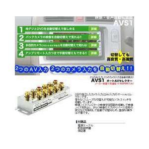 ビートソニック オートAVセレクター 映像・音声自動切替器 AVS1|tks