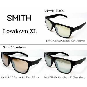 SMITH アクションポーラー ローダウンXL 偏光サングラス ACTION POLAR Lowdown XL シルバーミラー フィッシング・アウトドア・スポーツ|tks
