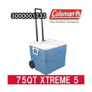 コールマン クーラーボックス 75QT エクストリーム 5 ホイールクーラー ブルー(3000001733)|tksports