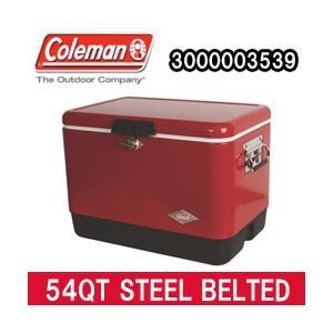 コールマン クーラーボックス 54QT スチール ベルト クーラー レッド(3000003539)|tksports