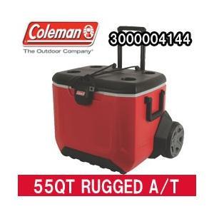 コールマン クーラーボックス 55QT ラギット A/Tホイールクーラー レッド(3000004144)|tksports