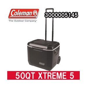 コールマン クーラーボックス 50QT エクストリーム 5 ホイールクーラー ブラック(3000005145)|tksports