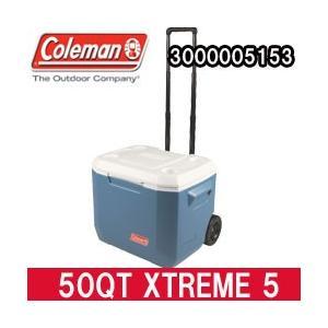 コールマン クーラーボックス 50QT エクストリーム 5 ホイールクーラー ブルー(3000005153)|tksports