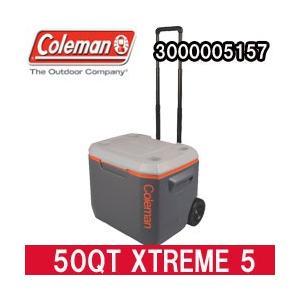 コールマン クーラーボックス 50QT エクストリーム 5 ホイールクーラー グレイ/オレンジ(3000005157)|tksports